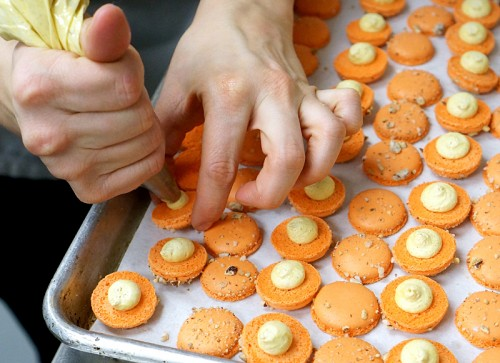 Sweet potato macarons