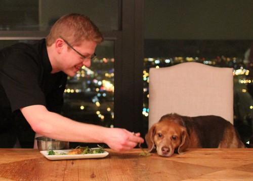 John Nelson-Alden, recipe-testing his latest creation