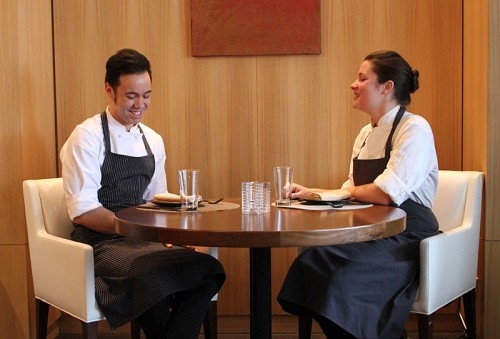 Executive chef Stephen Gillanders, and current guest chef Jessica Largey