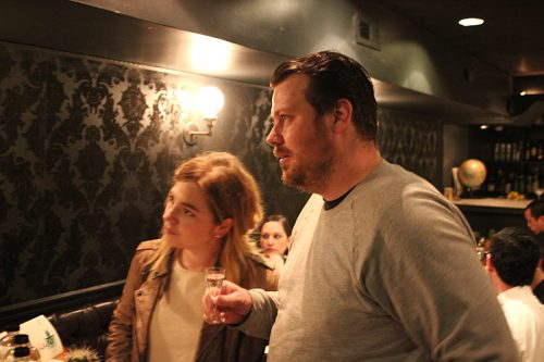 Among the mescal-samplers: David and Anna Posey, of another upcoming restaurant, Elske