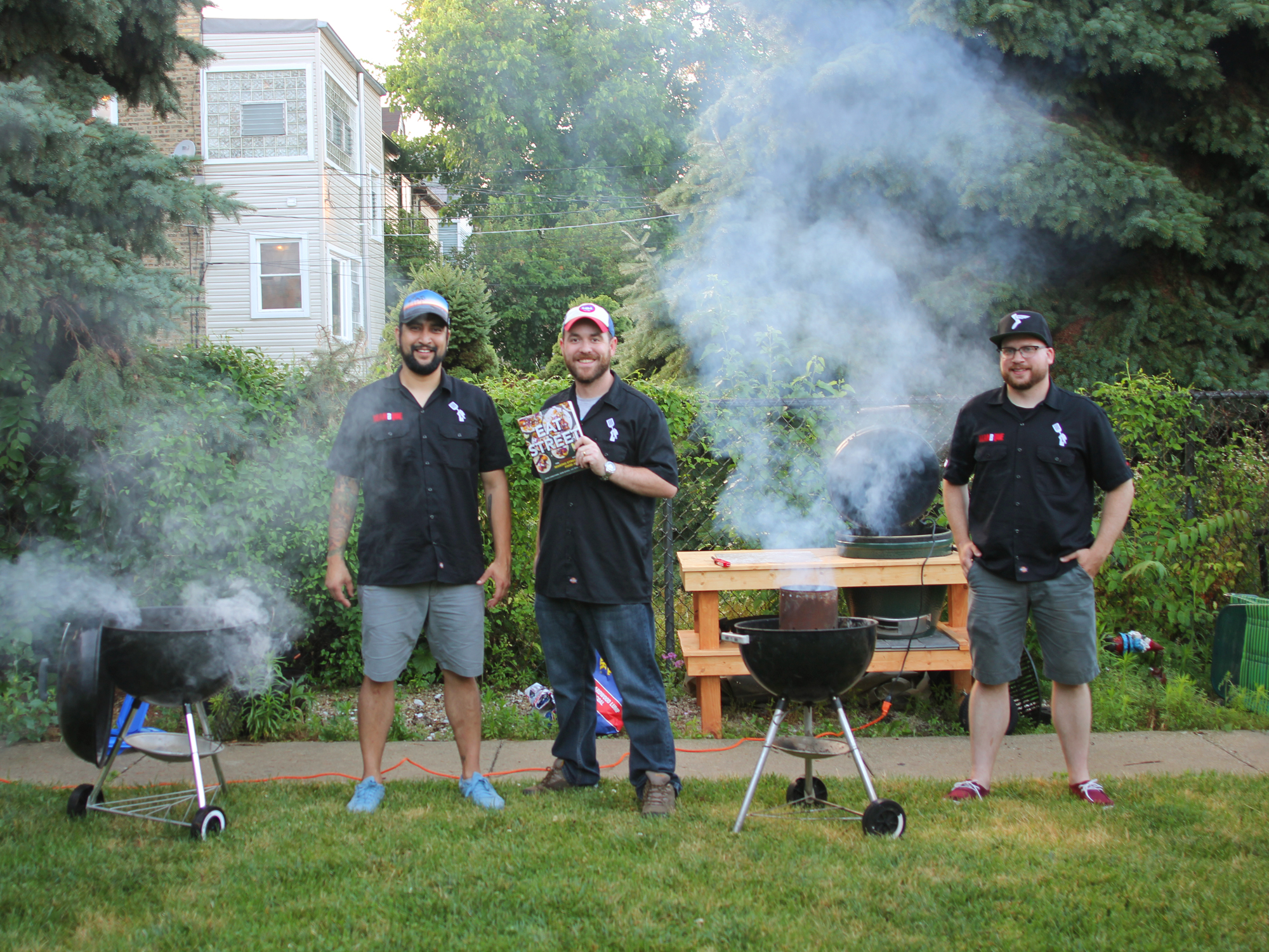 IN THE BACKYARD MAKING STREET FOOD WITH THE MANBQUE GUYS
