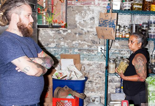 Brandon Baltzley and Chef Sangeeta Lakhani