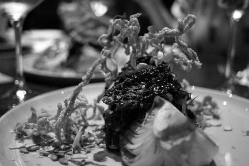 Kale salad: Napa cabbage, crunchy noodles, sunflower seeds, Thai noodles