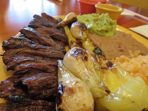 Arrachera (skirt steak) at Mezquite Pollo Express