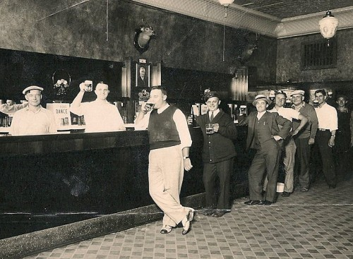 Chester (#1?) at the bar in the early 1930s