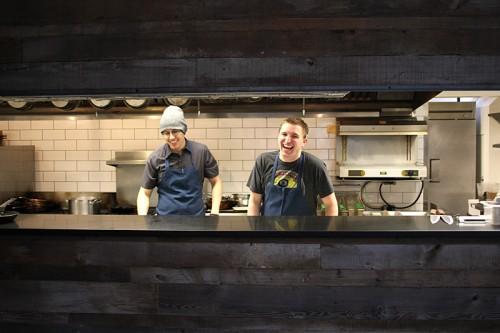 Van Lente and sous chef Jeremy Loya