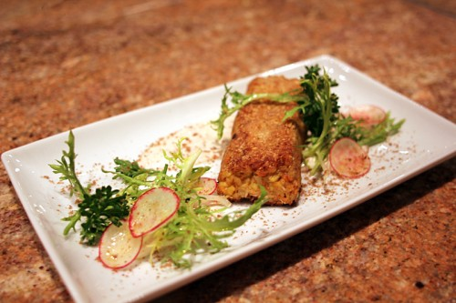 Alaskan Salmon Cake: wild caught Alaskan salmon, old-fashioned oats, Michigan apples, flaxseed oil