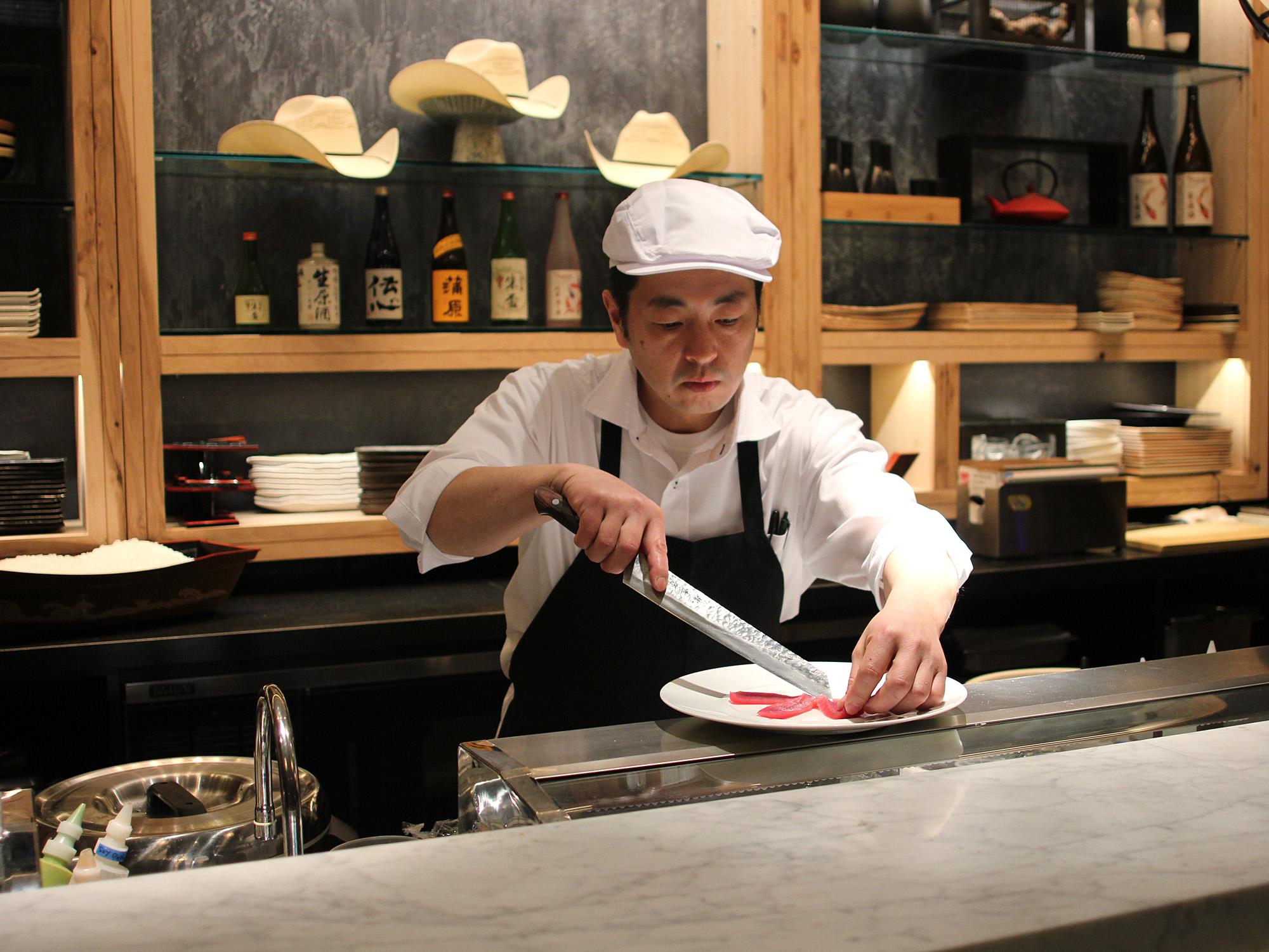 SEE NAOKI NAKASHIMA'S BEAUTIFUL SASHIMI PLATES AT NAOKI SUSHI