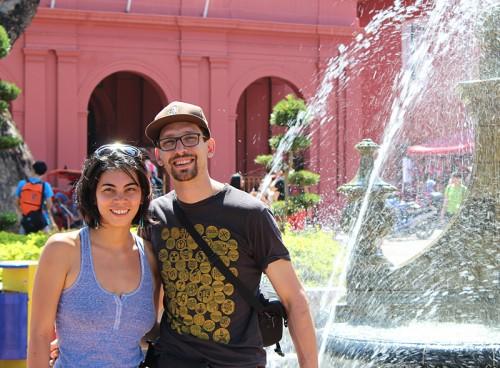 Adrienne Lo and Abe Conlon in Malacca, Malaysia