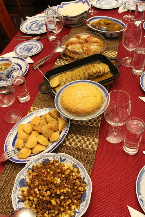 Florita Alves laid out a Macanese spread