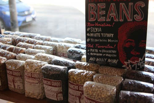Locally grown beans on sale at Hewn