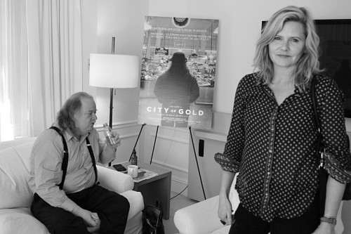 Jonathan Gold and filmmaker Laura Gabbert