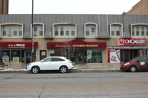 Pho Dung Gia, on Miner street in Des Plaines, opposite the Metra station