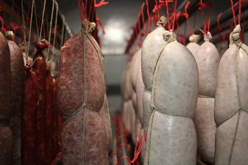 The first chamber manages the water loss of freshly made salumi