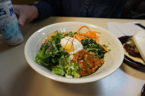 Chicken and veggie bibimbap (lunch menu)