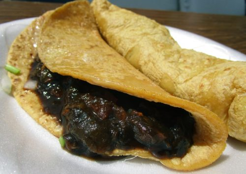 Huitlacoche quesadilla (from La Flor de Mexico)