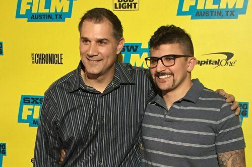 Filmmaker Brett A. Schwartz with former Moto chef Richie Farina