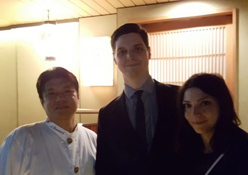 No photos allowed at RyuGin—except this one after dinner