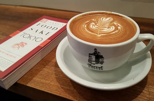 Two things we relied on in Tokyo—this book, and coffee at Turret in Ginza