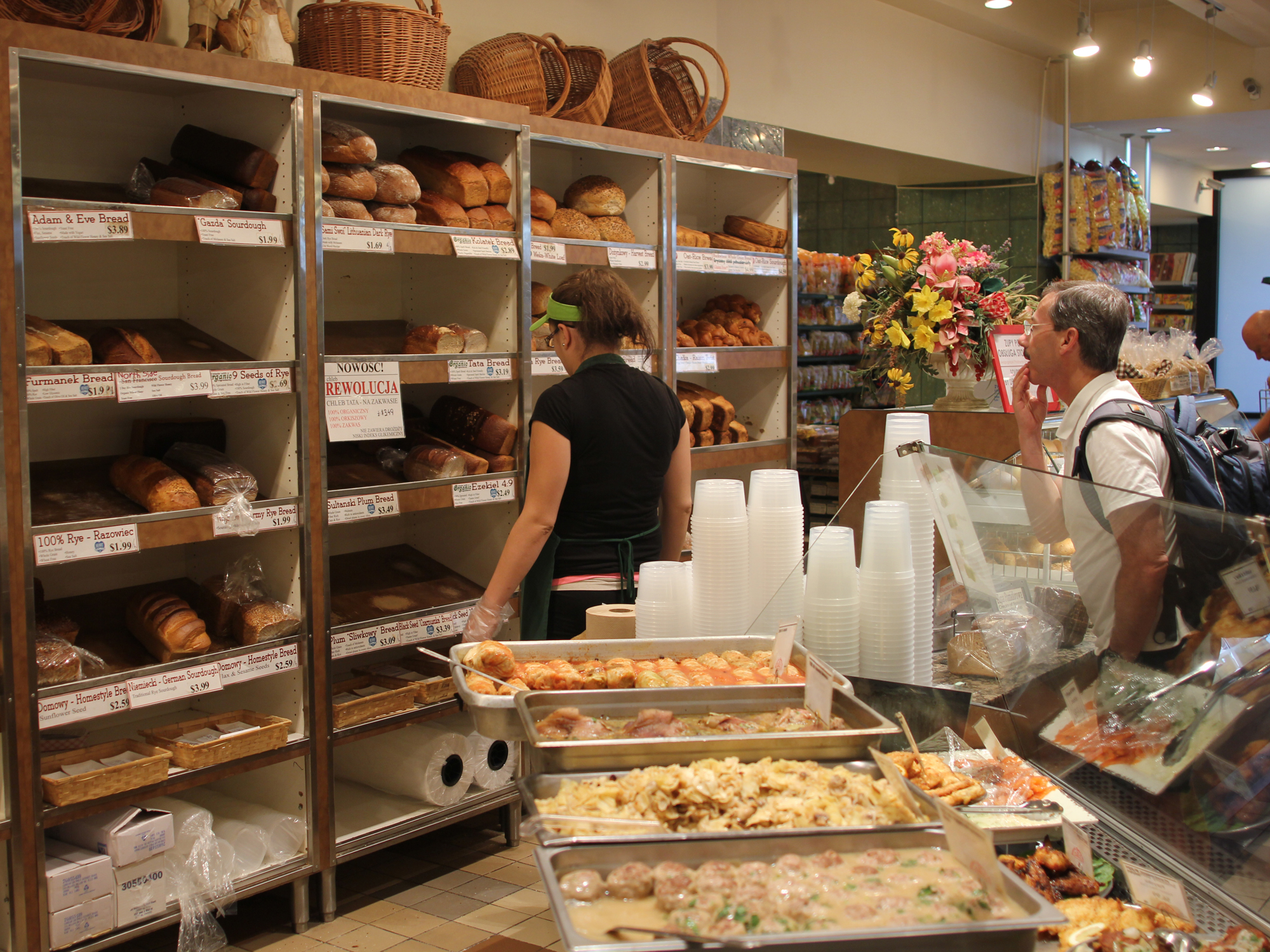 SPEAKING ORGANIC IN POLISH, AT KOLATEK'S BAKERY & DELI