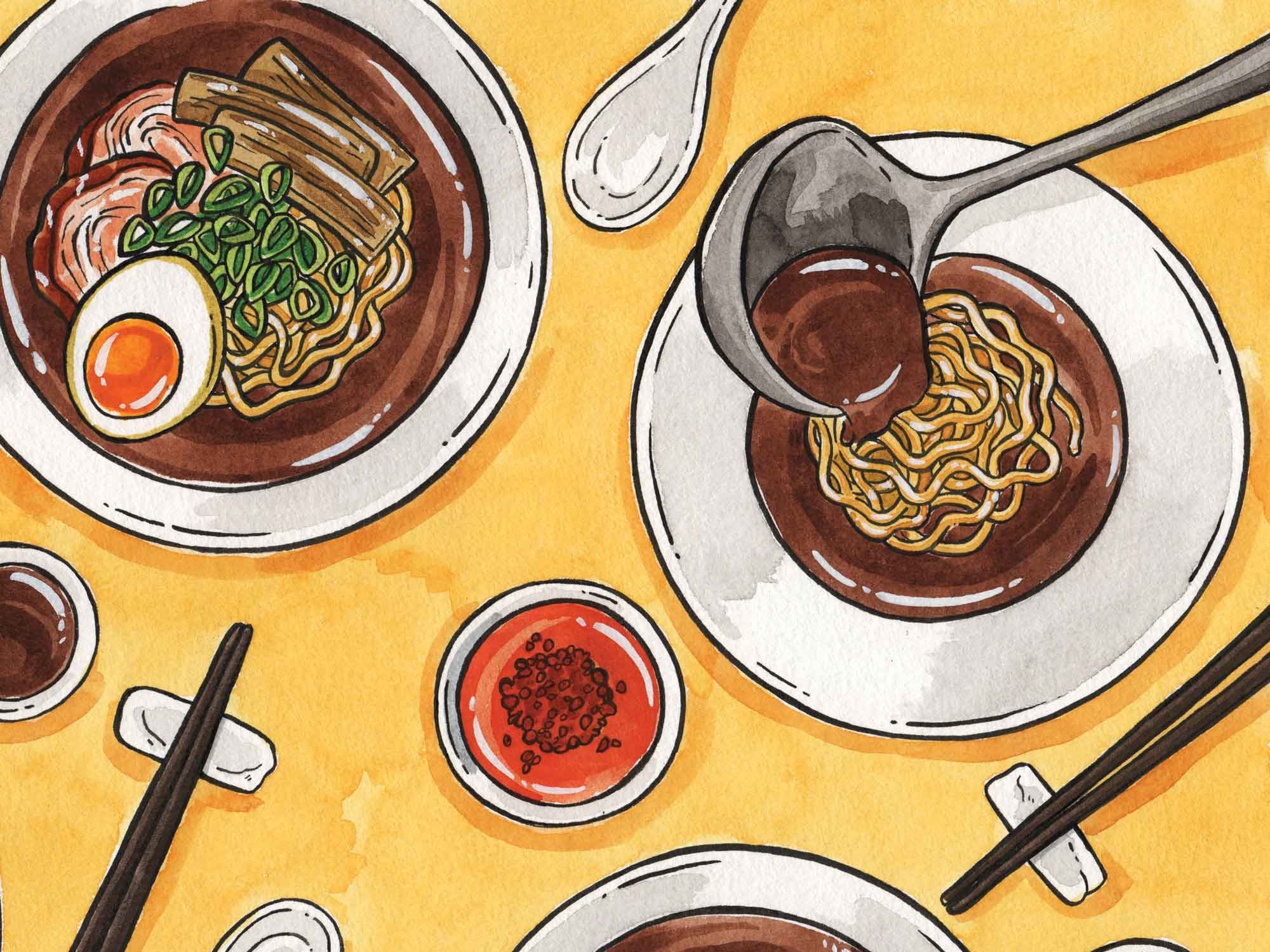 HOW TO BE A RAMEN MASTER, WITH HUGH AMANO AND SARAH BECAN