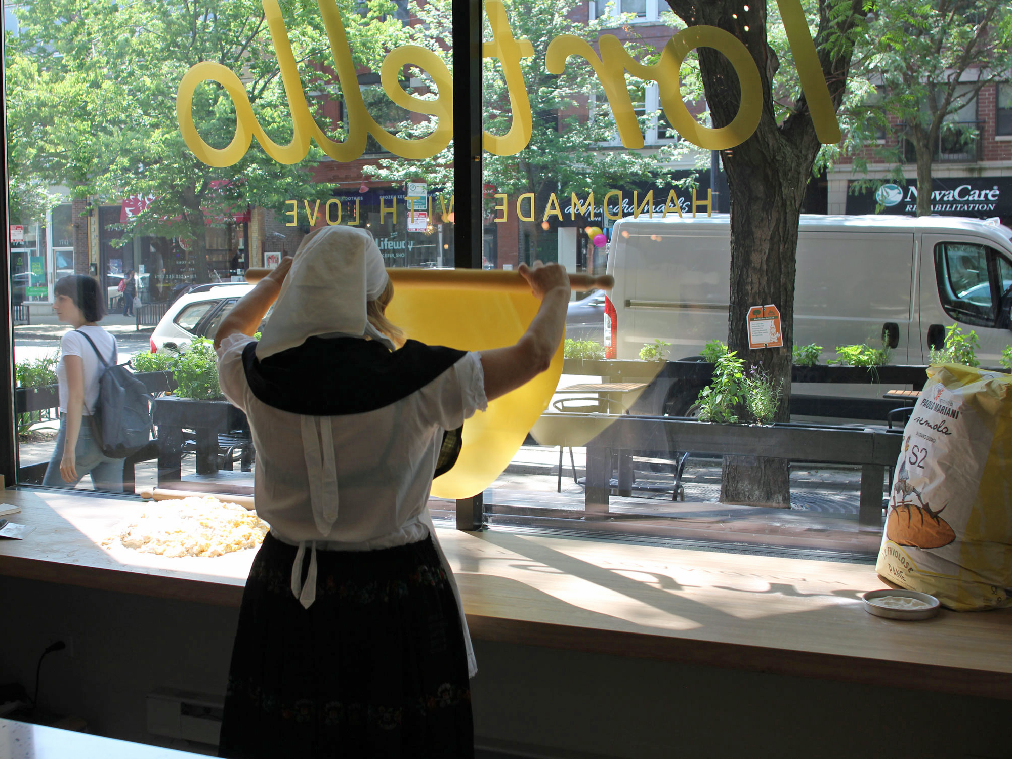 MAKING PASTA IN A WINDOW ON DIVISION STREET