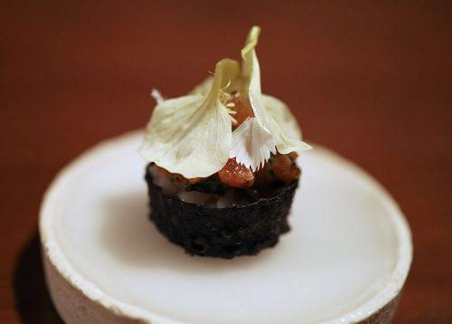 Petuna Ocean Trout Tartare with Yuzu Kosho and Nasturtuim Flowers