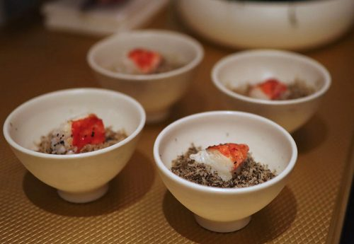 Norwegian King Crab with Blkack Truffle and Sabayon